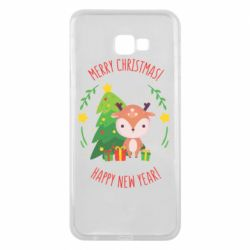 Чехол для Samsung J4 Plus 2018 Happy new year and deer
