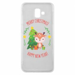 Чехол для Samsung J6 Plus 2018 Happy new year and deer
