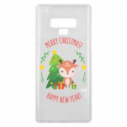 Чехол для Samsung Note 9 Happy new year and deer