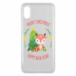 Чехол для Xiaomi Mi8 Pro Happy new year and deer