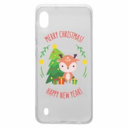Чехол для Samsung A10 Happy new year and deer