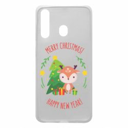 Чехол для Samsung A60 Happy new year and deer