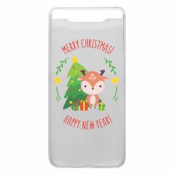 Чехол для Samsung A80 Happy new year and deer