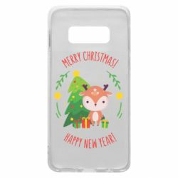 Чехол для Samsung S10e Happy new year and deer