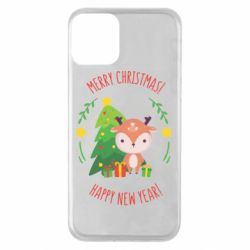 Чехол для iPhone 11 Happy new year and deer