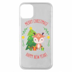 Чехол для iPhone 11 Pro Happy new year and deer