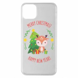 Чехол для iPhone 11 Pro Max Happy new year and deer