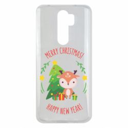 Чехол для Xiaomi Redmi Note 8 Pro Happy new year and deer