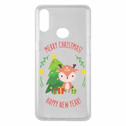 Чехол для Samsung A10s Happy new year and deer