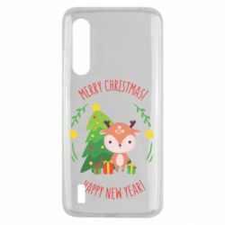Чехол для Xiaomi Mi9 Lite Happy new year and deer