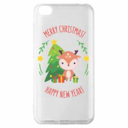 Чехол для Xiaomi Redmi Go Happy new year and deer