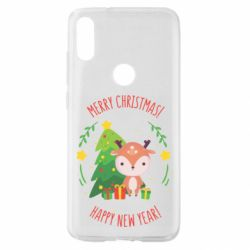 Чехол для Xiaomi Mi Play Happy new year and deer
