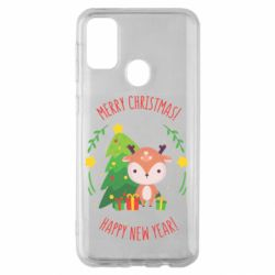 Чехол для Samsung M30s Happy new year and deer