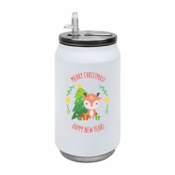 Термобанка 350ml Happy new year and deer