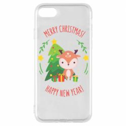 Чехол для iPhone 7 Happy new year and deer