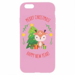 Чехол для iPhone 6/6S Happy new year and deer