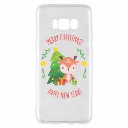 Чехол для Samsung S8 Happy new year and deer