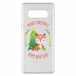 Чехол для Samsung Note 8 Happy new year and deer