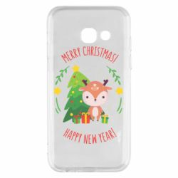 Чехол для Samsung A3 2017 Happy new year and deer