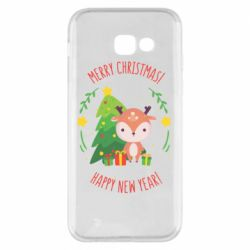 Чехол для Samsung A5 2017 Happy new year and deer