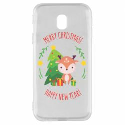 Чехол для Samsung J3 2017 Happy new year and deer
