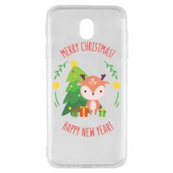 Чехол для Samsung J7 2017 Happy new year and deer