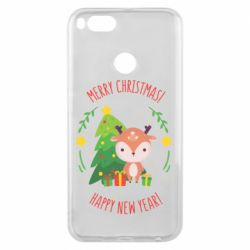 Чехол для Xiaomi Mi A1 Happy new year and deer
