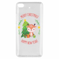 Чехол для Xiaomi Mi 5s Happy new year and deer