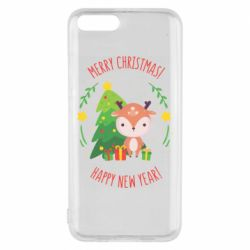 Чехол для Xiaomi Mi6 Happy new year and deer