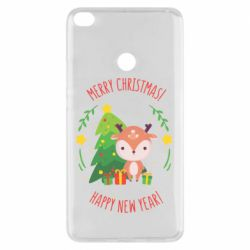 Чехол для Xiaomi Mi Max 2 Happy new year and deer