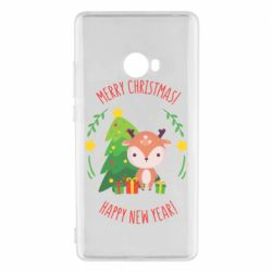 Чехол для Xiaomi Mi Note 2 Happy new year and deer