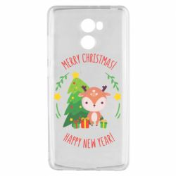 Чехол для Xiaomi Redmi 4 Happy new year and deer
