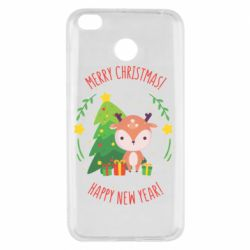 Чехол для Xiaomi Redmi 4x Happy new year and deer