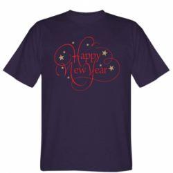 Чоловіча футболка Happy new year and stars