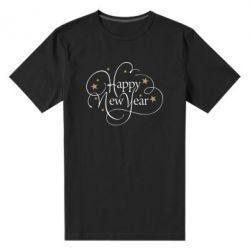 Чоловіча стрейчева футболка Happy new year and stars