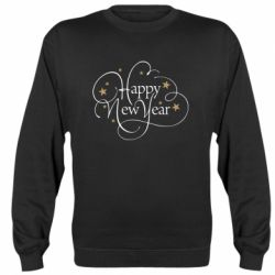 Реглан (світшот) Happy new year and stars