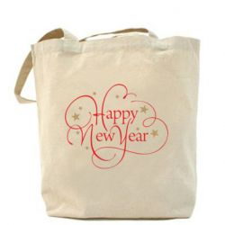 Сумка Happy new year and stars