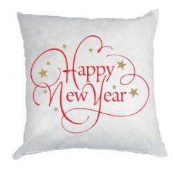 Подушка Happy new year and stars