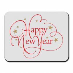 Килимок для миші Happy new year and stars