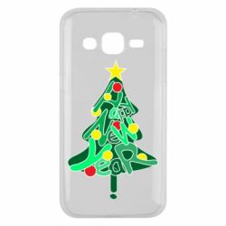 Чохол для Samsung J2 2015 Happy new year on the tree