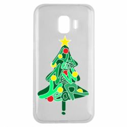 Чохол для Samsung J2 2018 Happy new year on the tree