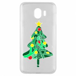Чохол для Samsung J4 Happy new year on the tree