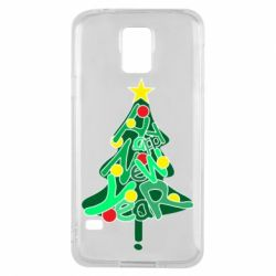 Чохол для Samsung S5 Happy new year on the tree