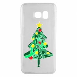 Чохол для Samsung S6 EDGE Happy new year on the tree