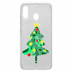 Чохол для Samsung A20 Happy new year on the tree