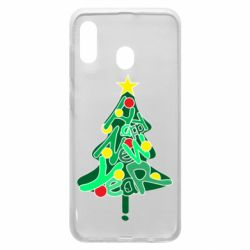 Чохол для Samsung A30 Happy new year on the tree