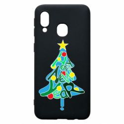 Чохол для Samsung A40 Happy new year on the tree