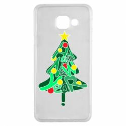 Чохол для Samsung A3 2016 Happy new year on the tree