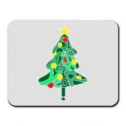 Килимок для миші Happy new year on the tree