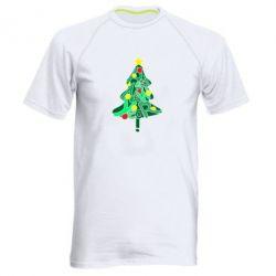 Чоловіча спортивна футболка Happy new year on the tree